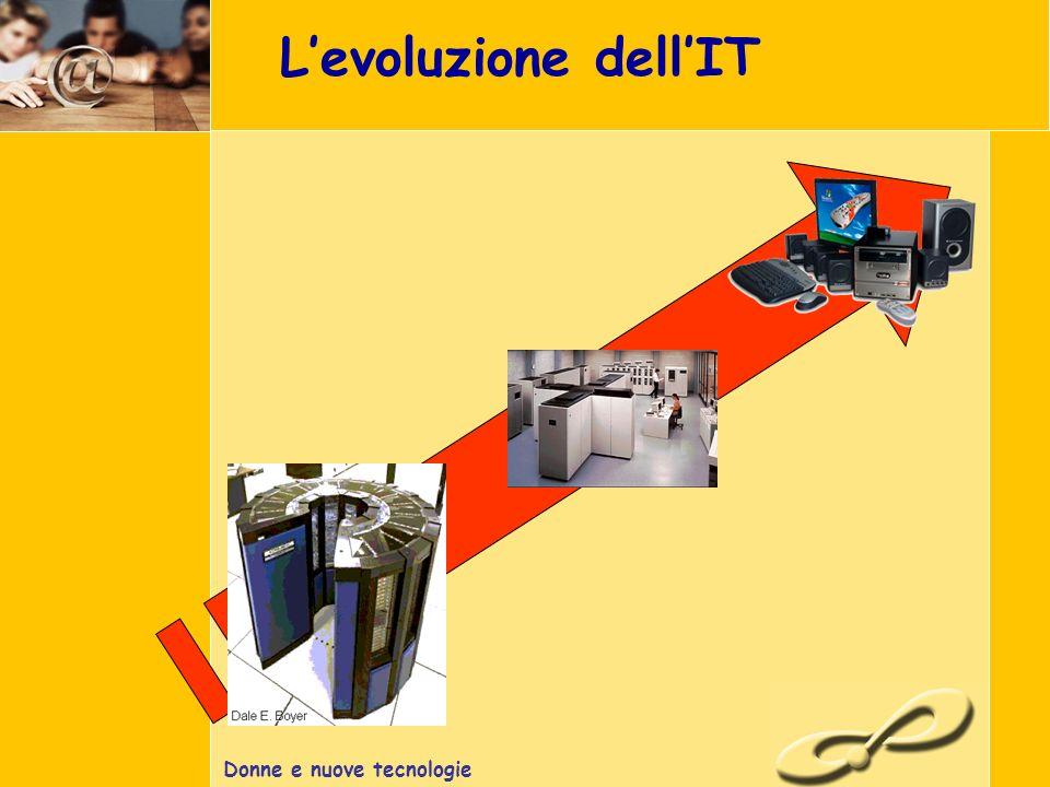 Donne e nuove tecnologie Levoluzione dellIT