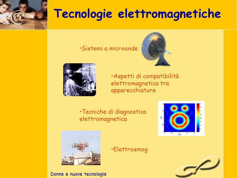 Donne e nuove tecnologie Tecnologie elettromagnetiche Tecniche di diagnostica elettromagnetica Elettrosmog Sistemi a microonde Aspetti di compatibilità elettromagnetica tra apparecchiature