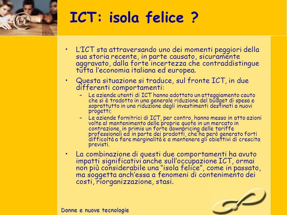 Donne e nuove tecnologie ICT: isola felice .