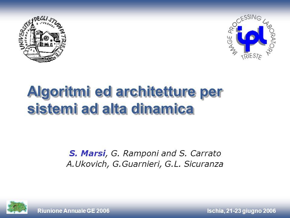 Ischia, 21-23 giugno 2006Riunione Annuale GE 2006 Algoritmi ed architetture per sistemi ad alta dinamica S.