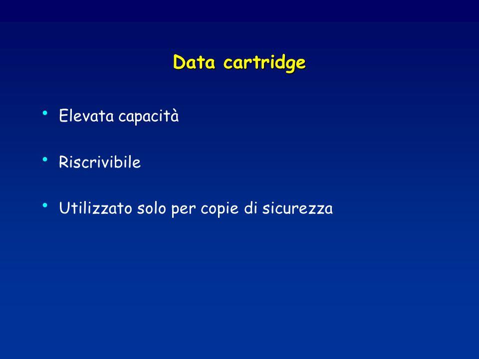 Data cartridge Elevata capacità Riscrivibile Utilizzato solo per copie di sicurezza