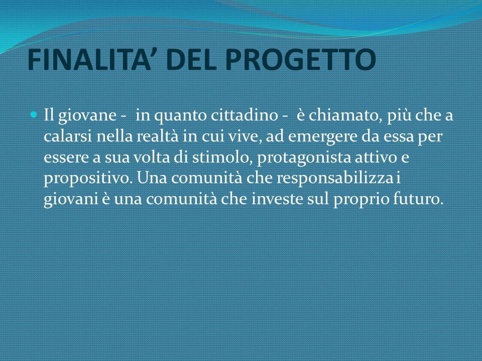 PRIMO STEP Oleggio Castello, 23 ottobre: presentazione ai giovani convocati dagli enti partners delle linee progettuali Pagine per il futuro ed individuazione di un giovane referente per Comune.
