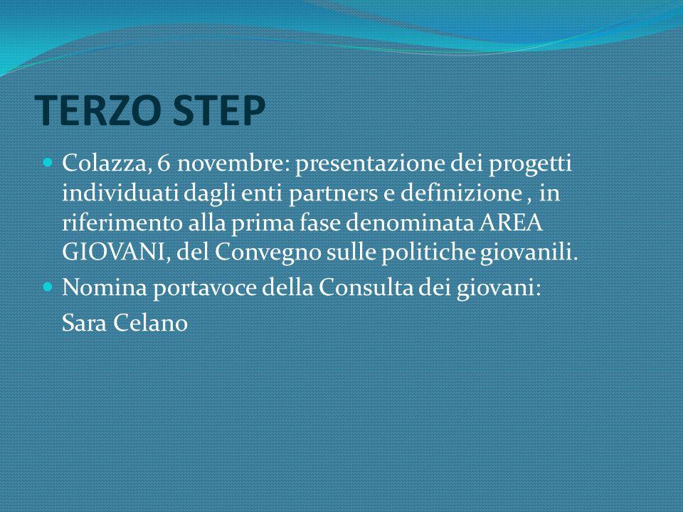 QUARTO STEP Paruzzaro, 10 novembre: confronto con i partners su quanto elaborato Proposte: Convegno