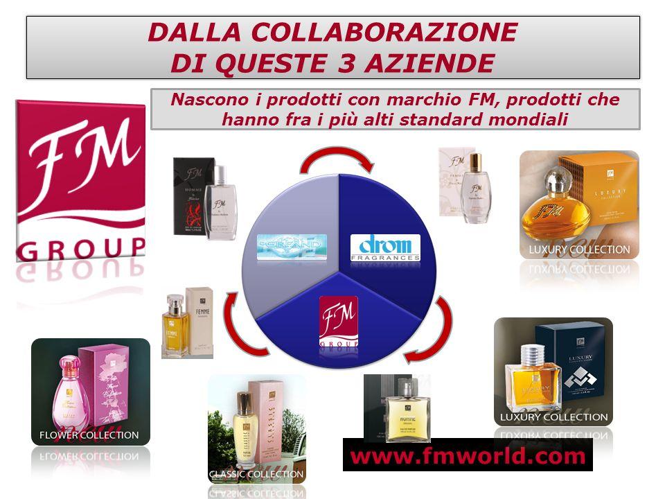 www.fmworld.com DALLA COLLABORAZIONE DI QUESTE 3 AZIENDE DALLA COLLABORAZIONE DI QUESTE 3 AZIENDE Nascono i prodotti con marchio FM, prodotti che hann
