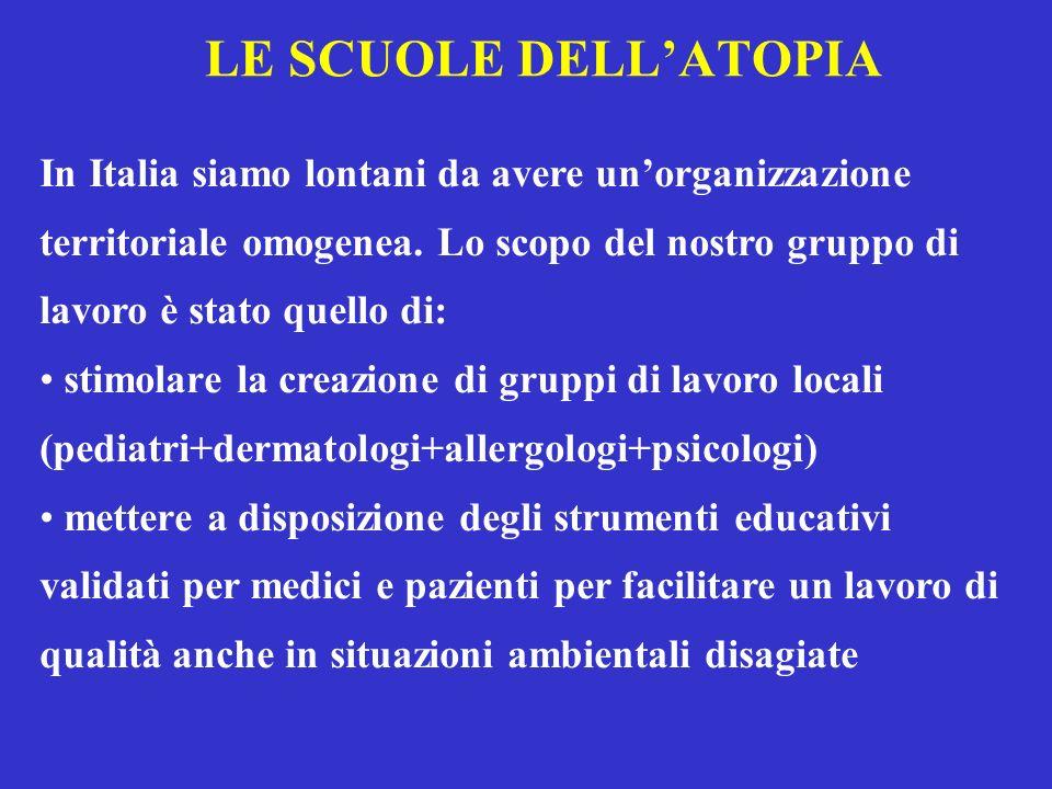 LE SCUOLE DELLATOPIA In Italia siamo lontani da avere unorganizzazione territoriale omogenea. Lo scopo del nostro gruppo di lavoro è stato quello di: