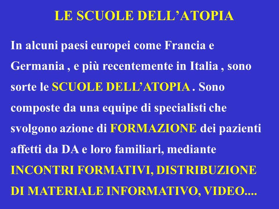 LE SCUOLE DELLATOPIA In alcuni paesi europei come Francia e Germania, e più recentemente in Italia, sono sorte le SCUOLE DELLATOPIA. Sono composte da