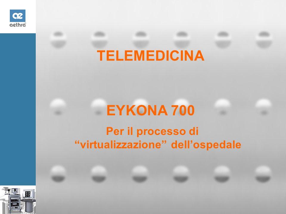 TELEMEDICINA 2002 EYKONA 700 Per il processo di virtualizzazione dellospedale