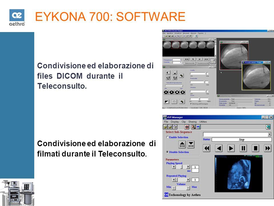 EYKONA 700: SOFTWARE Condivisione ed elaborazione di files DICOM durante il Teleconsulto.