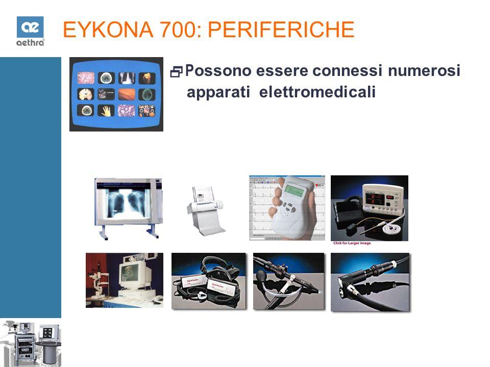 EYKONA 700: PERIFERICHE P ossono essere connessi numerosi apparati elettromedicali