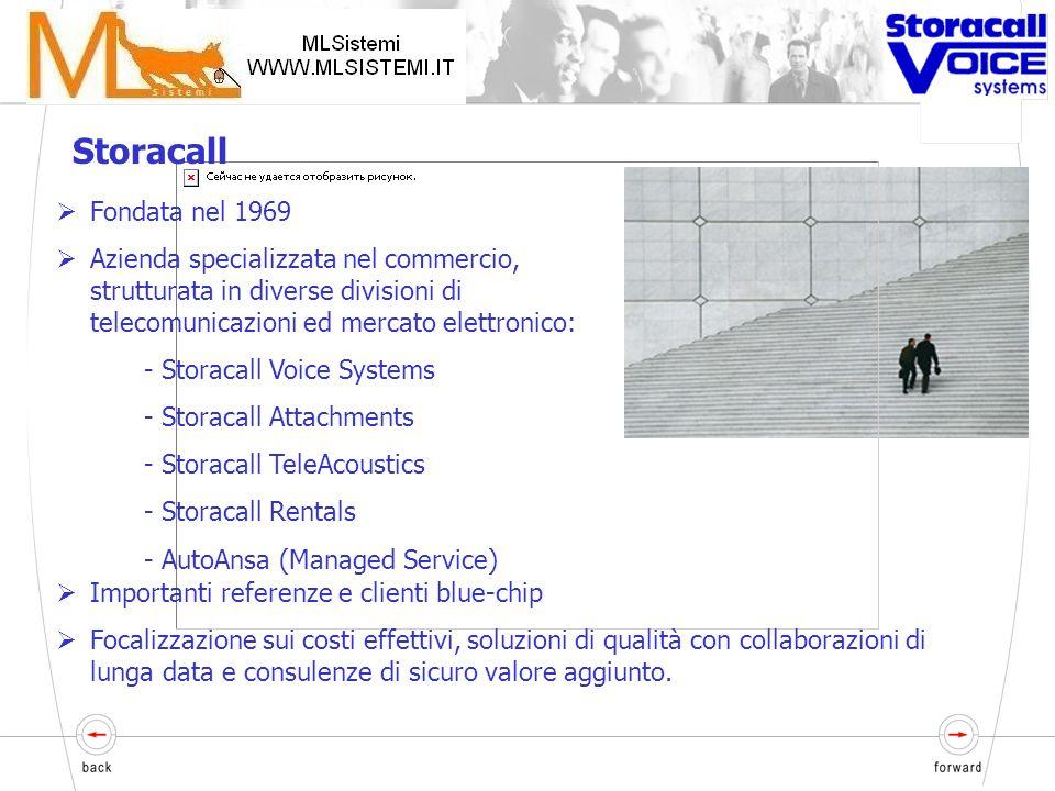 Indice Panoramica delle necessità Introduzione a Storacall Descrizione del Voistore Dimostrazione delle potenzialità del prodotto Domende e risposte