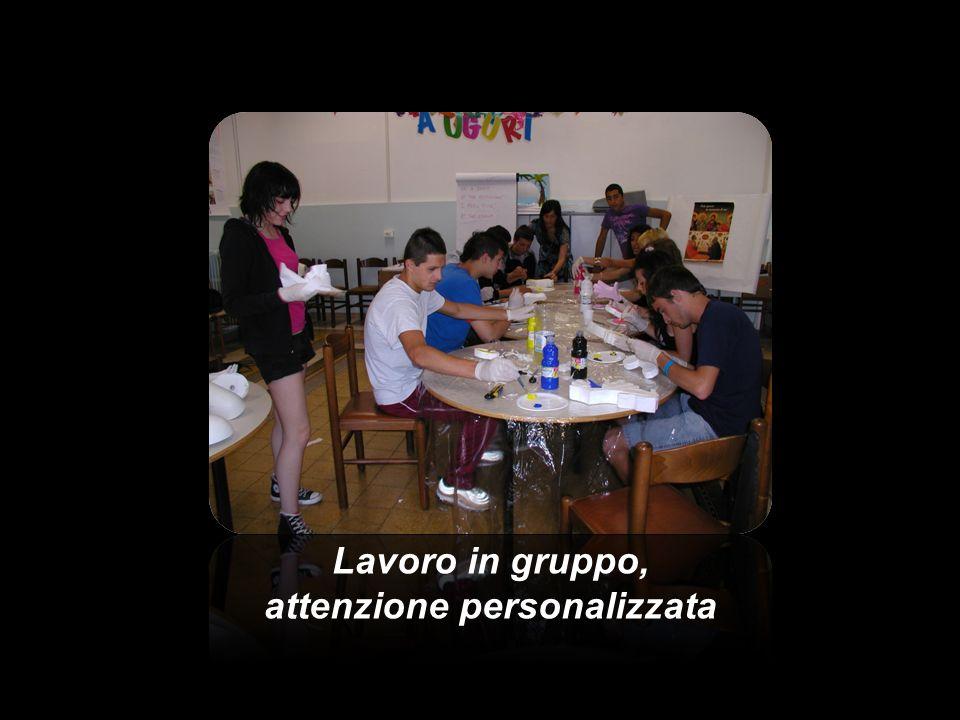 Lavoro in gruppo, attenzione personalizzata