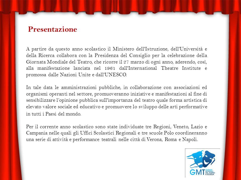 Presentazione A partire da questo anno scolastico il Ministero dell'Istruzione, dell'Università e della Ricerca collabora con la Presidenza del Consig