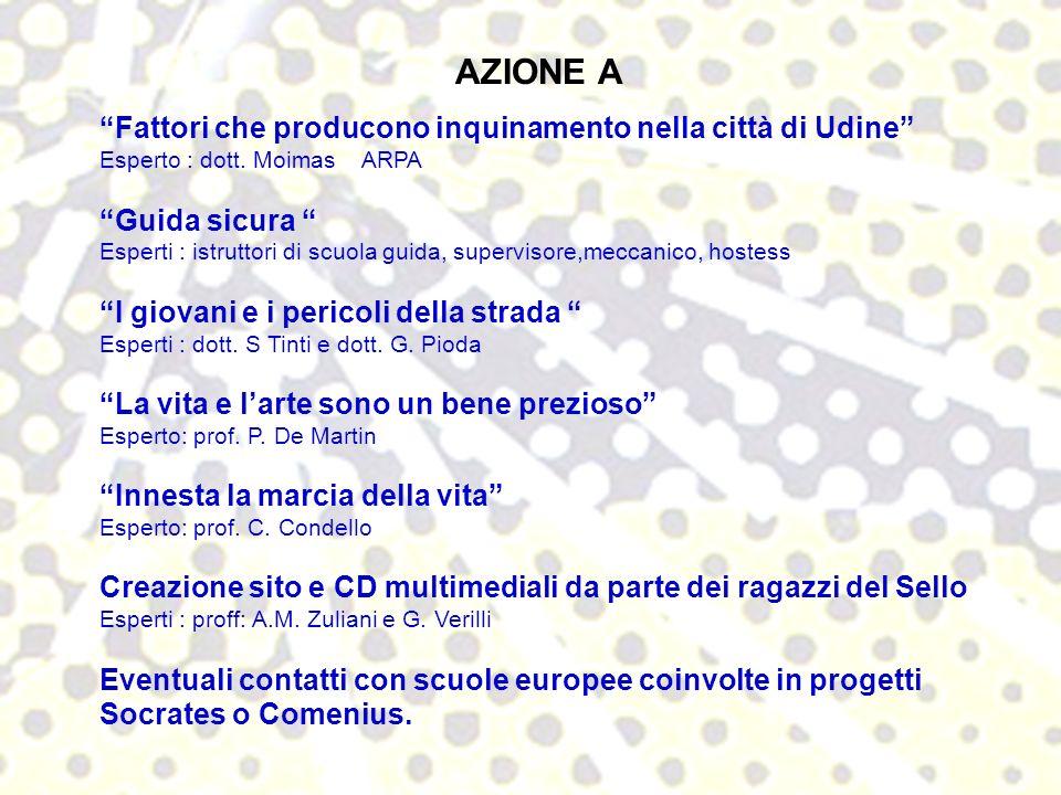AZIONE A Fattori che producono inquinamento nella città di Udine Esperto : dott.