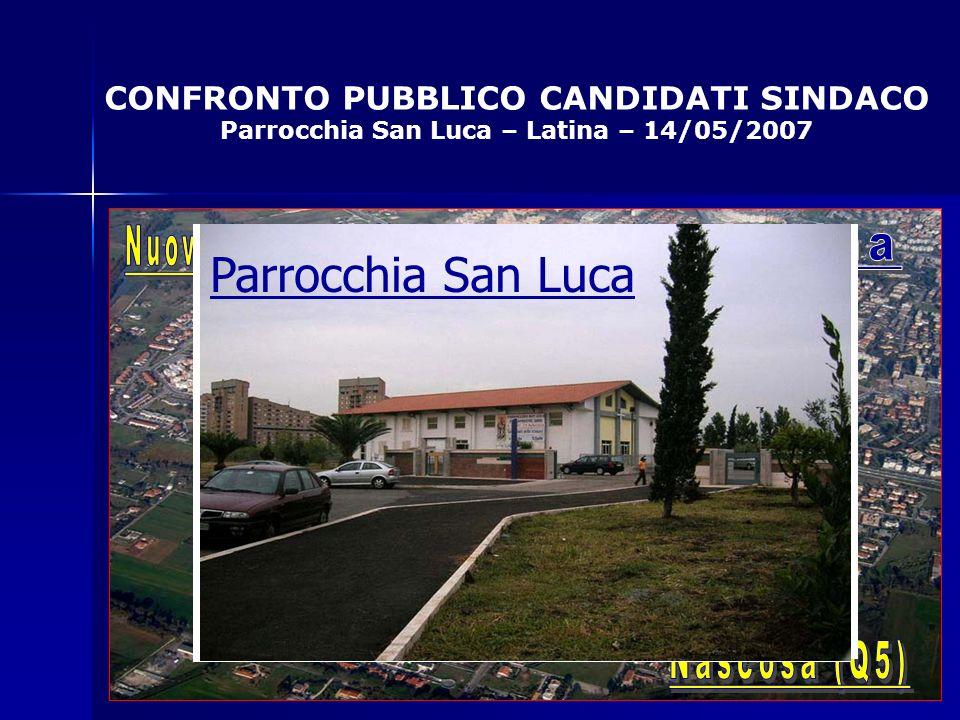 CONFRONTO PUBBLICO CANDIDATI SINDACO Parrocchia San Luca – Latina – 14/05/2007 Parrocchia San Luca