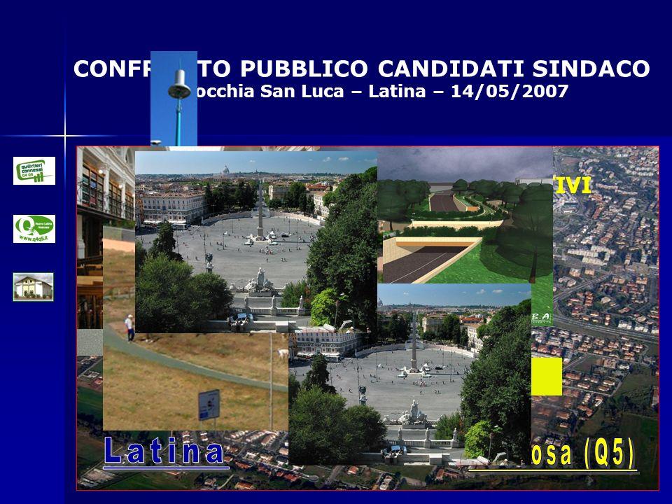 CONFRONTO PUBBLICO CANDIDATI SINDACO Parrocchia San Luca – Latina – 14/05/2007 OBIETTIVI Etc.