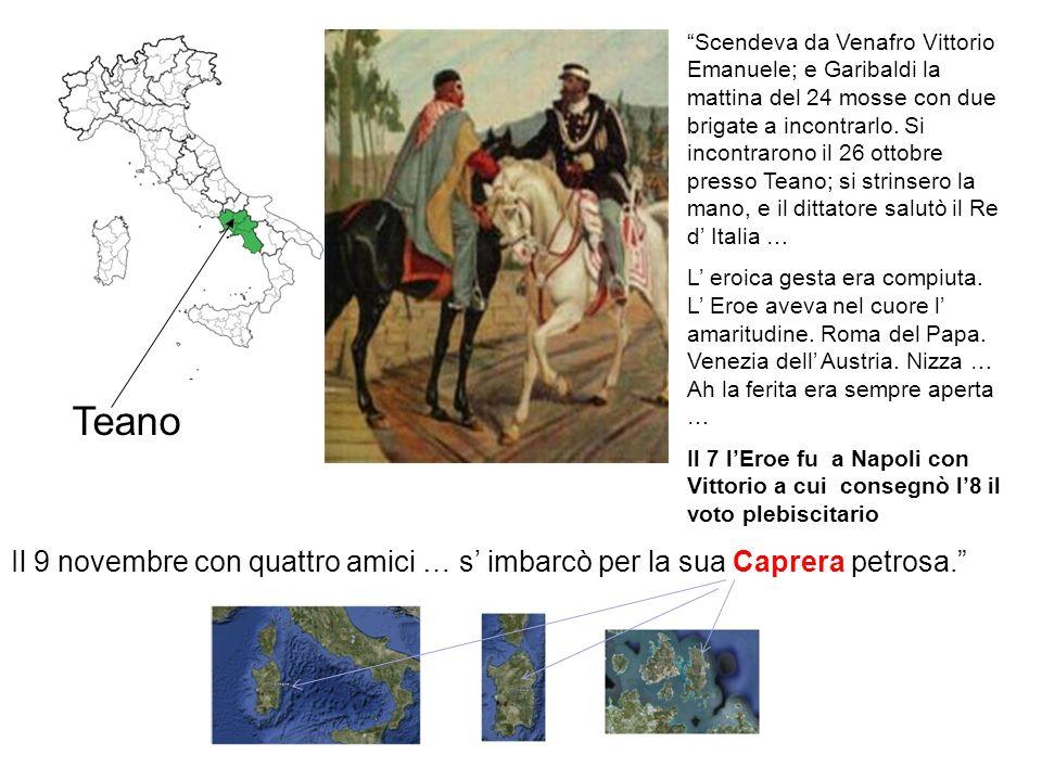 Battaglia del Volturno … Cinque giorni dopo prendeva i suoi e li conduceva sulla sinistra del Volturno. Là 20 mila Garibaldini contro 40 mila Regi app