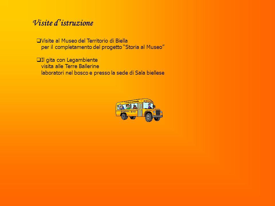 Visite distruzione Visite al Museo del Territorio di Biella per il completamento del progetto Storia al Museo Il gita con Legambiente visita alle Terre Ballerine laboratori nel bosco e presso la sede di Sala biellese