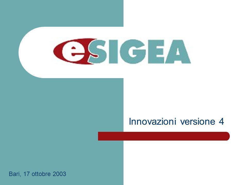 Innovazioni versione 4 Bari, 17 ottobre 2003