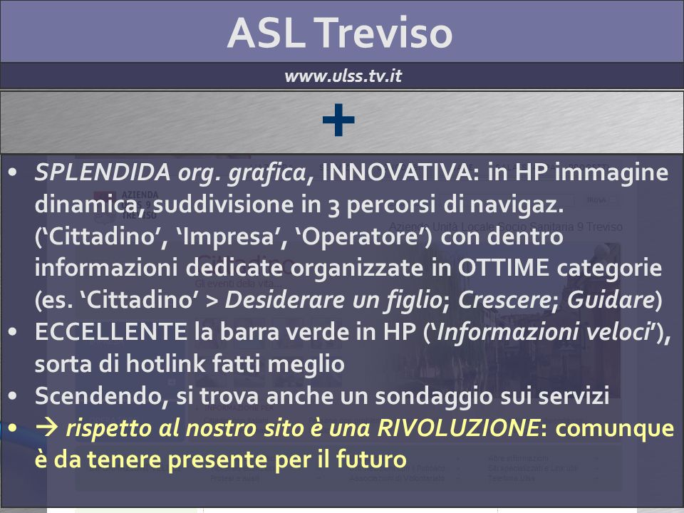 ASL Treviso www.ulss.tv.it + SPLENDIDA org.
