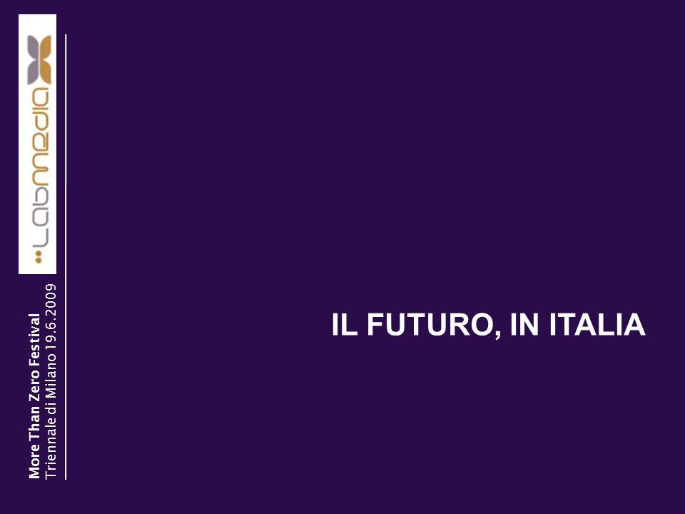 30/03/2014 18 IL FUTURO, IN ITALIA More Than Zero Festival Triennale di Milano 19.6.2009