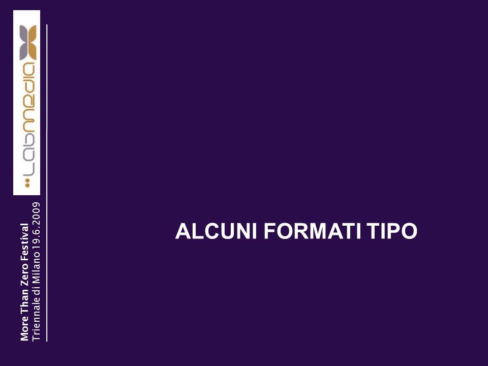30/03/2014 5 ALCUNI FORMATI TIPO More Than Zero Festival Triennale di Milano 19.6.2009