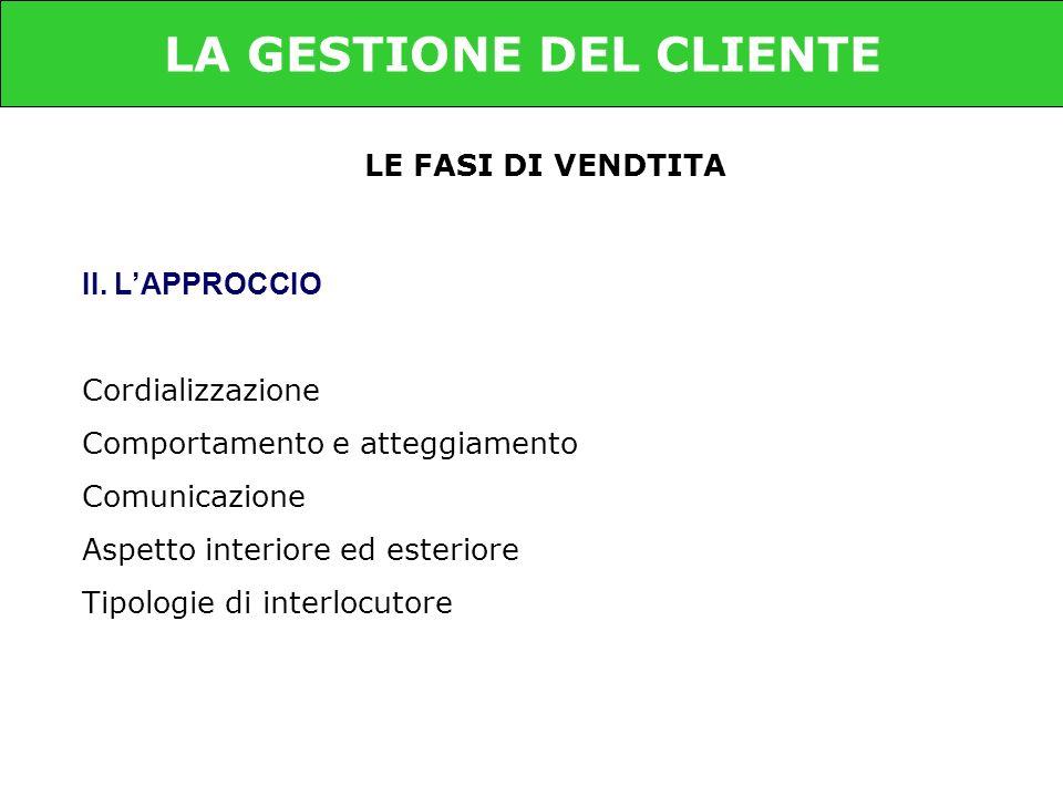 LE FASI DI VENDTITA II.