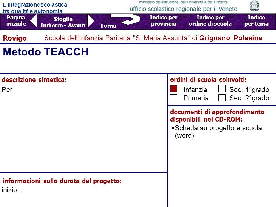 L integrazione scolastica tra qualità e autonomia Pagina iniziale Sfoglia Indietro - Avanti Indice per provincia Indice per ordine di scuola Indice per tema Torna Scuola dell Infanzia Paritaria S.