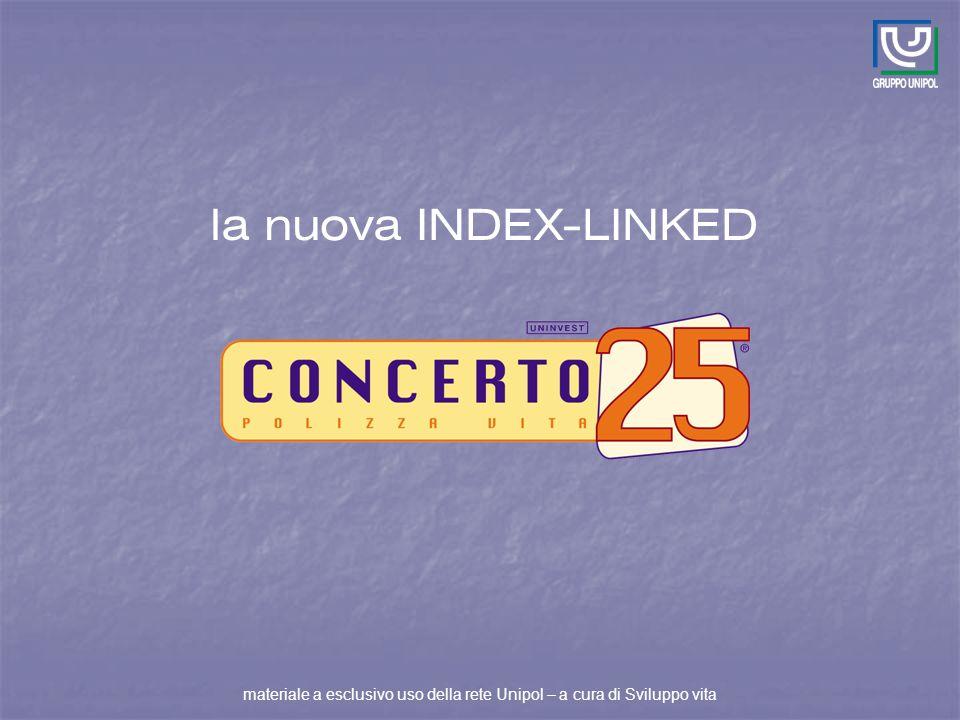la nuova INDEX-LINKED materiale a esclusivo uso della rete Unipol – a cura di Sviluppo vita