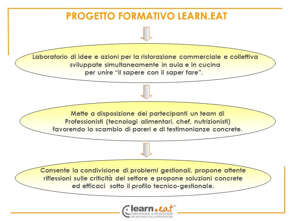 Laboratorio di idee e azioni per la ristorazione commerciale e collettiva sviluppate simultaneamente in aula e in cucina per unire il sapere con il sa