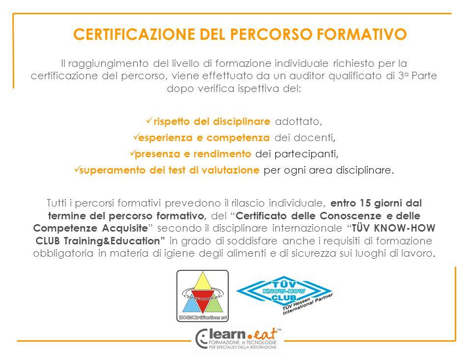 Il raggiungimento del livello di formazione individuale richiesto per la certificazione del percorso, viene effettuato da un auditor qualificato di 3