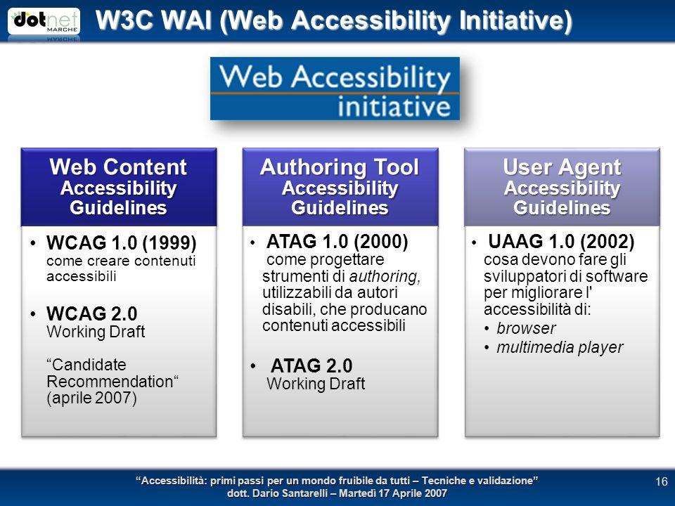 Accessibilità: primi passi per un mondo fruibile da tutti – Tecniche e validazione dott.