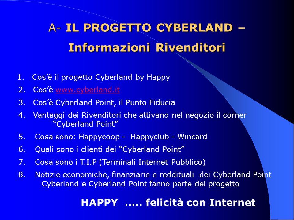 A- IL PROGETTO CYBERLAND – Informazioni Rivenditori 1.