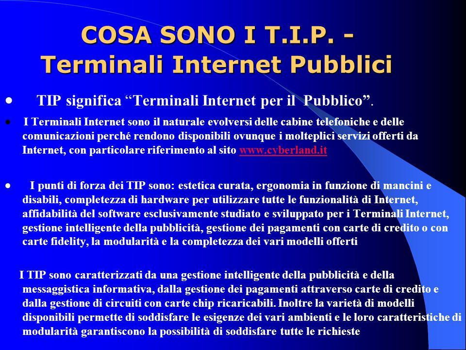 COSA SONO I T.I.P. - Terminali Internet Pubblici COSA SONO I T.I.P.