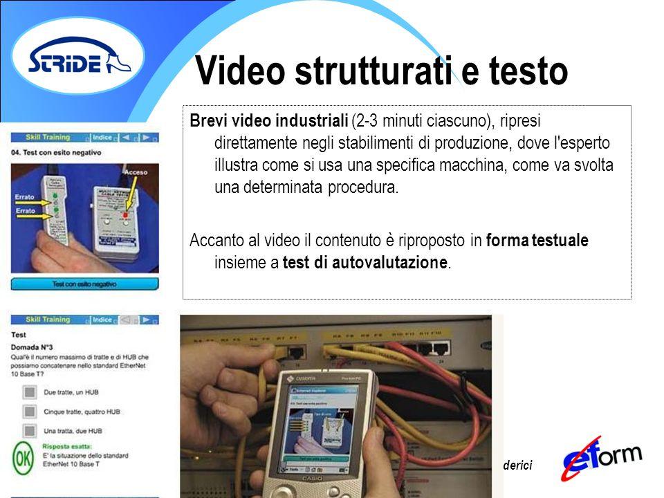 Prof. Giorgio Federici Brevi video industriali (2-3 minuti ciascuno), ripresi direttamente negli stabilimenti di produzione, dove l'esperto illustra c