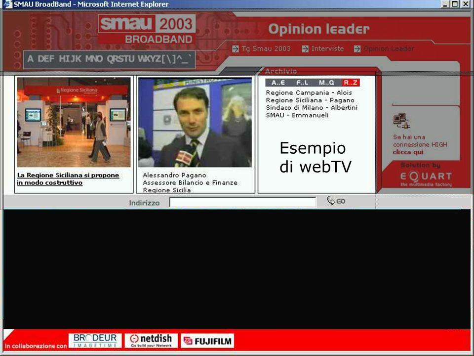 © Carlo Crespellani Porcella – Novembre 2003 Esempio di webTV