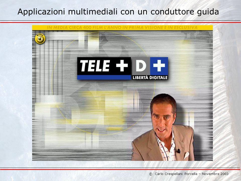 © Carlo Crespellani Porcella – Novembre 2003 Applicazioni multimediali con un conduttore guida