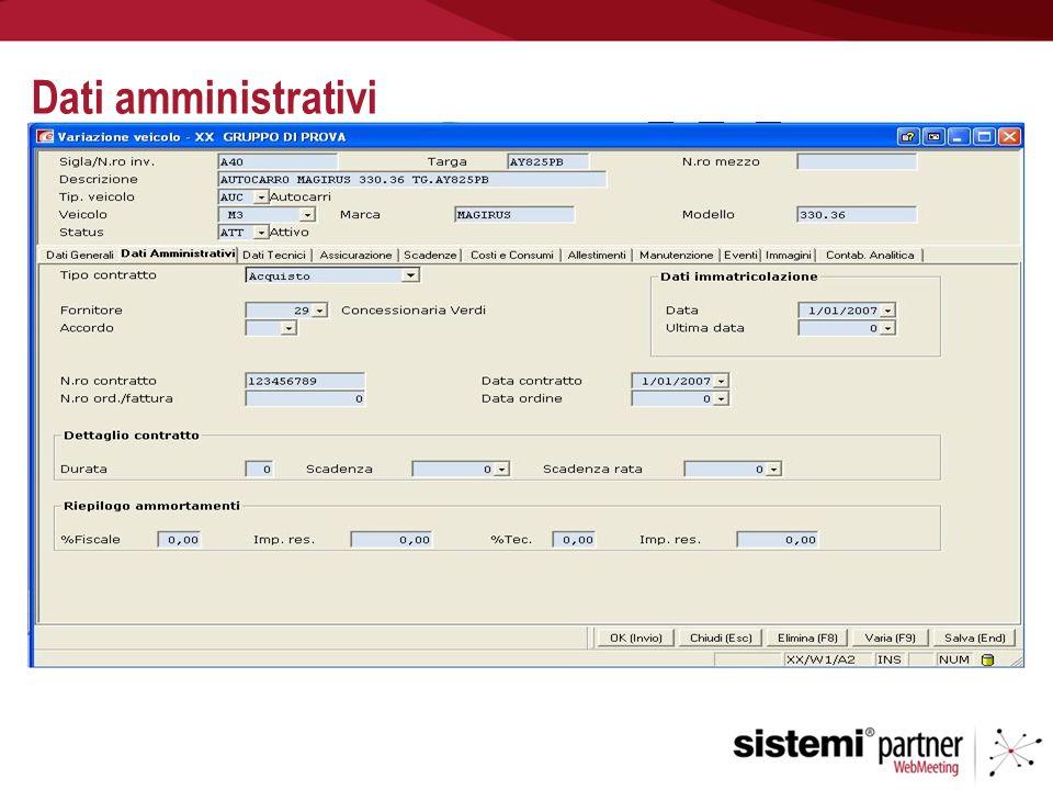 Dati amministrativi