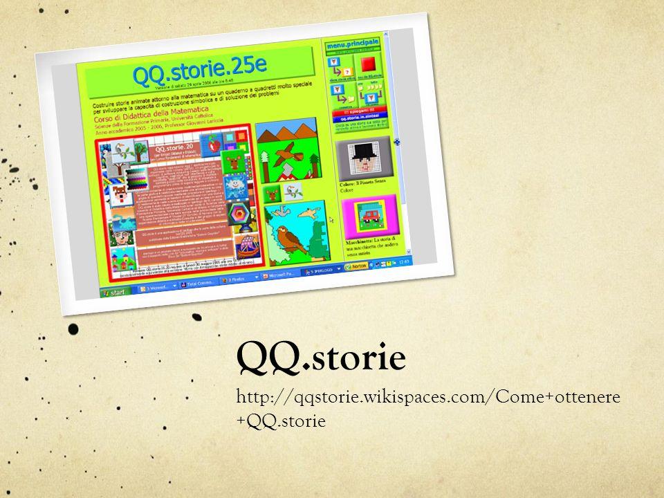 QQ.storie http://qqstorie.wikispaces.com/Come+ottenere +QQ.storie