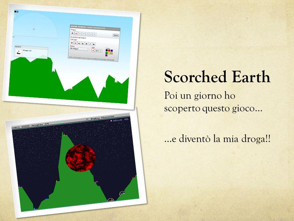 Scorched Earth Poi un giorno ho scoperto questo gioco… …e diventò la mia droga!!