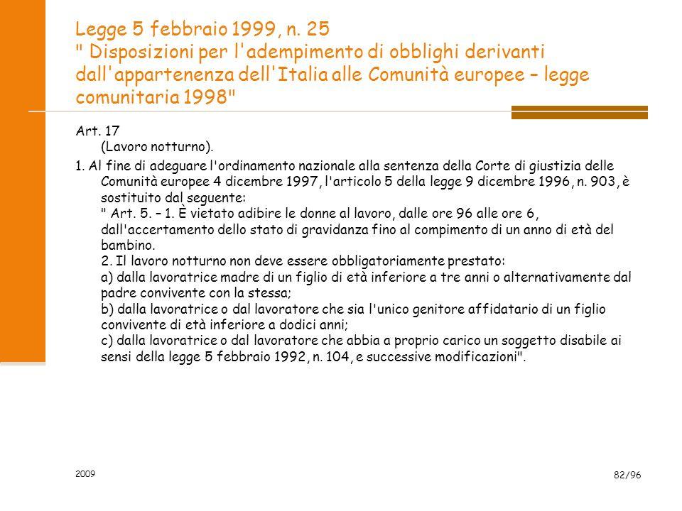 Legge 5 febbraio 1999, n. 25