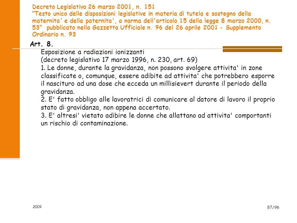 Decreto Legislativo 26 marzo 2001, n. 151