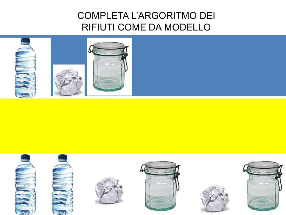 HGH NHN COMPLETA LARGORITMO DEI RIFIUTI COME DA MODELLO