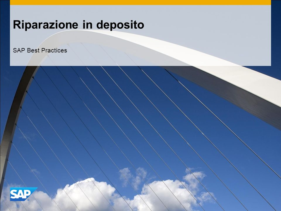 Riparazione in deposito SAP Best Practices