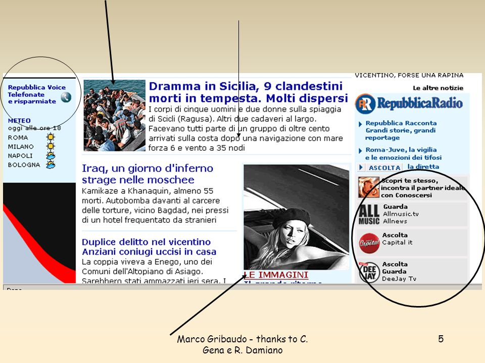 Marco Gribaudo - thanks to C.Gena e R.