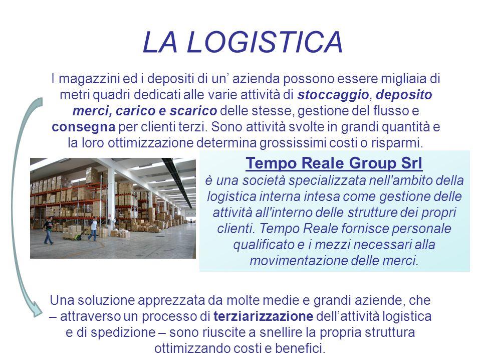 LA LOGISTICA I magazzini ed i depositi di un azienda possono essere migliaia di metri quadri dedicati alle varie attività di stoccaggio, deposito merc