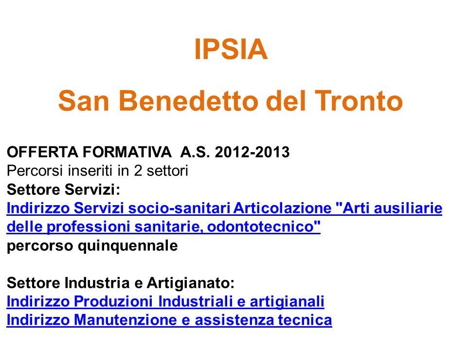 IPSIA San Benedetto del Tronto OFFERTA FORMATIVA A.S.