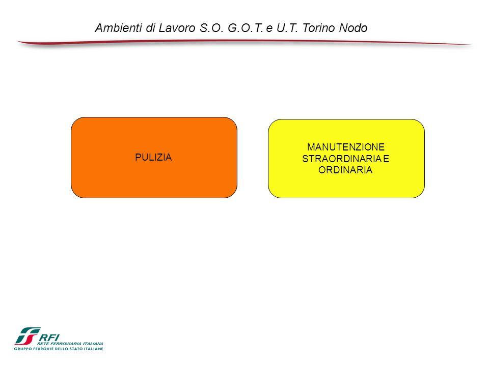 PULIZIA MANUTENZIONE STRAORDINARIA E ORDINARIA Ambienti di Lavoro S.O. G.O.T. e U.T. Torino Nodo
