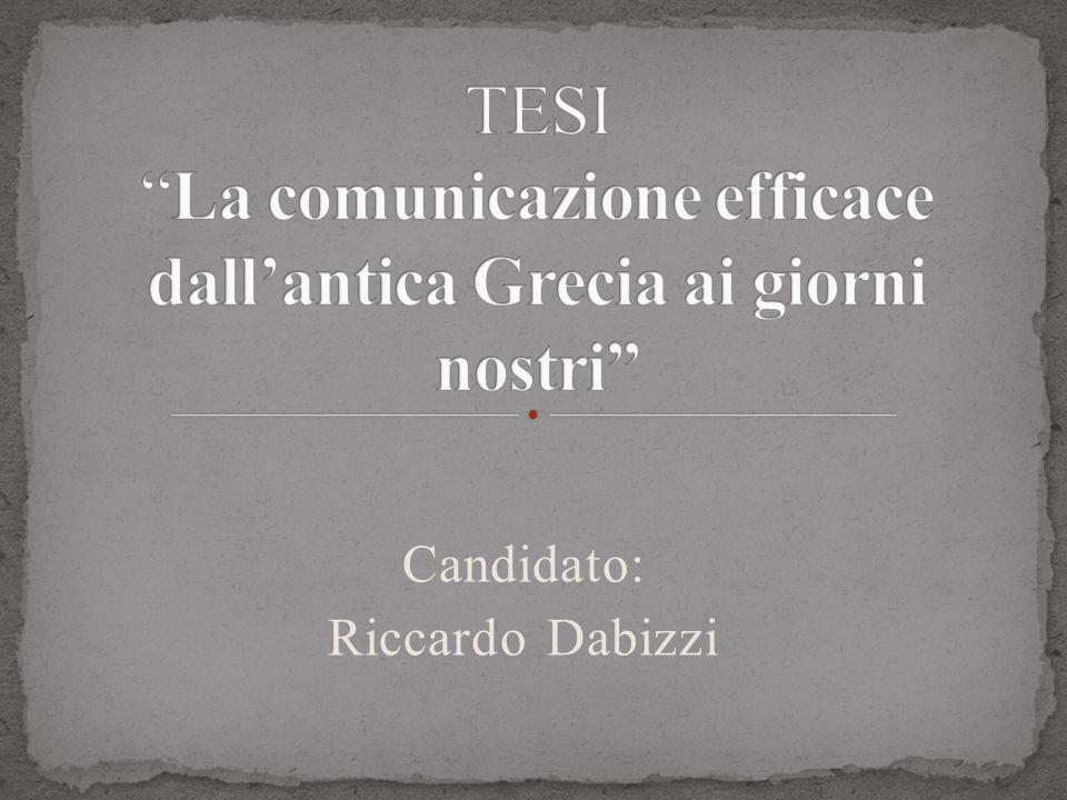Candidato: Riccardo Dabizzi