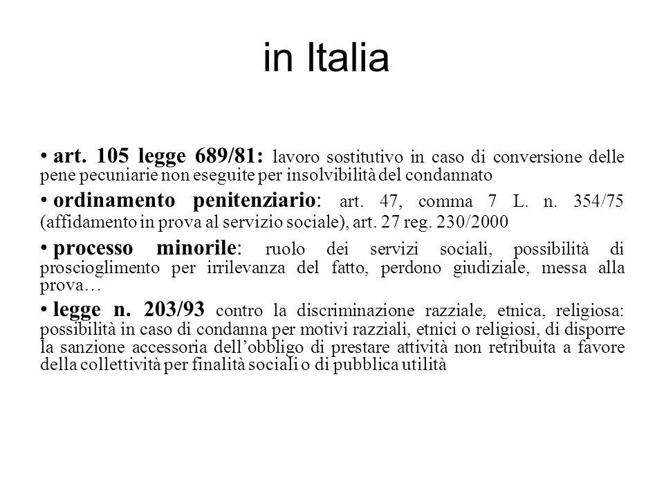 in Italia art.