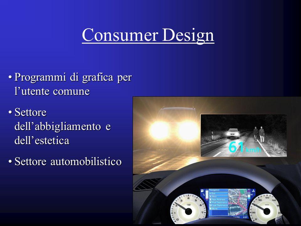 Consumer Design Programmi di grafica per lutente comuneProgrammi di grafica per lutente comune Settore dellabbigliamento e dellesteticaSettore dellabb